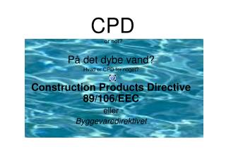 CPD  or not?