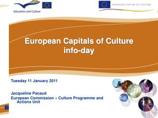 European Capitals of Culture  info-day