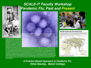SCALE-IT Faculty Workshop Pandemic Flu: Past and  Present A Problem Based Approach to Pandemic Flu