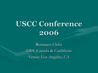 USCC Conference 2006