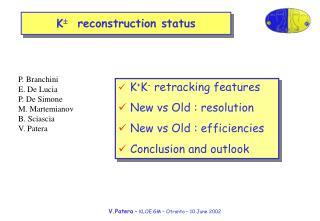K   reconstruction status