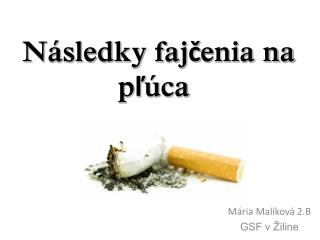 Následky fajčenia na pľúca
