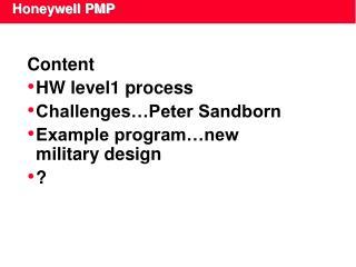 Honeywell PMP