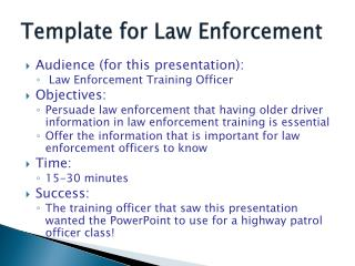 Template for Law Enforcement