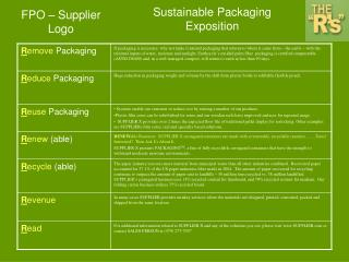 Sustainable Packaging Exposition