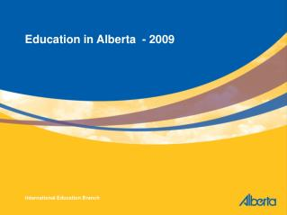 Education in Alberta  - 2009