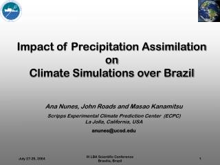 Impact of Precipitation Assimilation on Climate Simulations over Brazil