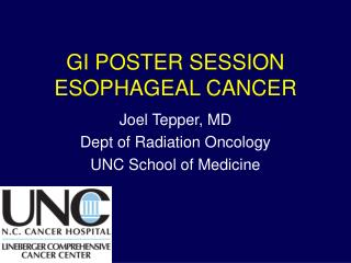GI POSTER SESSION ESOPHAGEAL CANCER