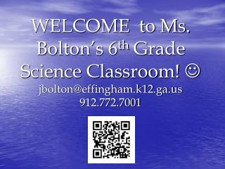 6 TH  GRADE SCHEDULE Ms. Bolton – Room 603 8:00-8:30		Arrival of Students/Homeroom