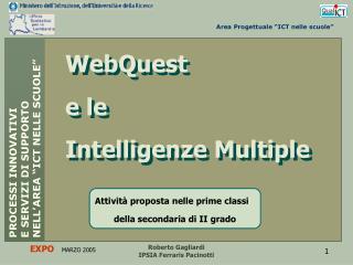 WebQuest e le  Intelligenze Multiple