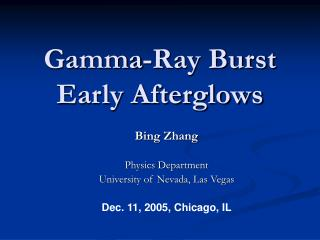 Gamma-Ray Burst Early Afterglows
