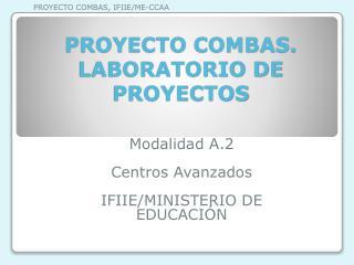 PROYECTO COMBAS. LABORATORIO DE PROYECTOS