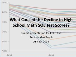 What Caused the Decline in High School Math SOL Test Scores?
