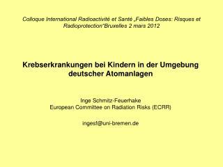 Krebserkrankungen bei Kindern in der Umgebung deutscher Atomanlagen