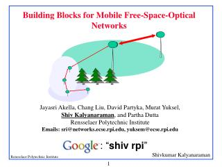 Building Blocks for Mobile Free-Space-Optical Networks