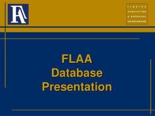 FLAA Database Presentation