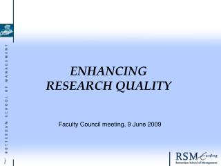 Enhancing  research quality