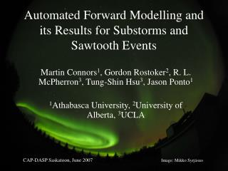 Automated Forward Modelling and its Results for Substorms and Sawtooth Events