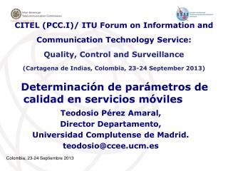 Determinación de parámetros de calidad en servicios móviles