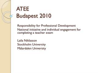 ATEE  Budapest 2010