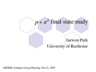 final state study