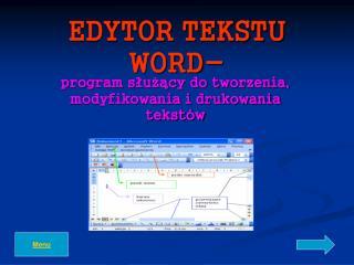 EDYTOR TEKSTU WORD-