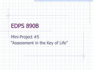 EDPS 890B
