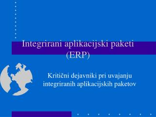 Integrirani aplikacijski paketi (ERP)