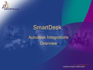 Autodesk Integrations  Overview