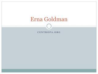 Erna Goldman
