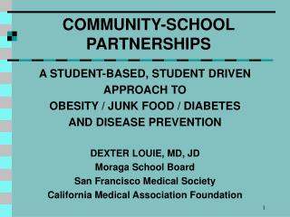 COMMUNITY-SCHOOL PARTNERSHIPS