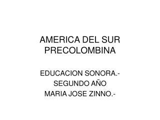 AMERICA DEL SUR PRECOLOMBINA