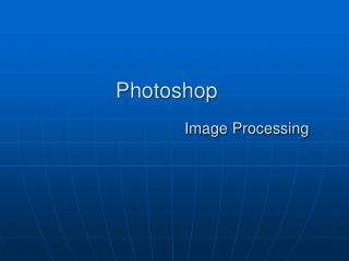 Photoshop Image Processing