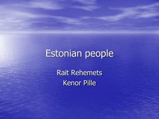 Estonian people
