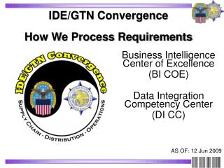 IDE/GTN Convergence  How We Process Requirements
