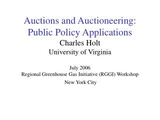 Auctions – A Long History