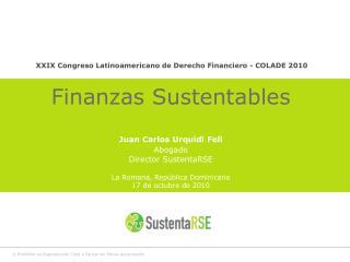 XXIX Congreso Latinoamericano de Derecho Financiero - COLADE 2010