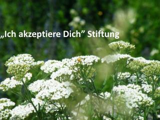 """""""Ich akzeptiere Dich"""" Stiftung"""