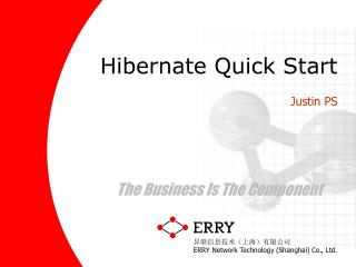 Hibernate Quick Start