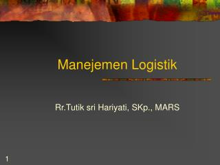 Manejemen Logistik