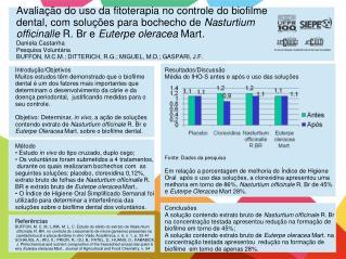 Introdução/Objetivos Muitos estudos têm demonstrado que o biofilme