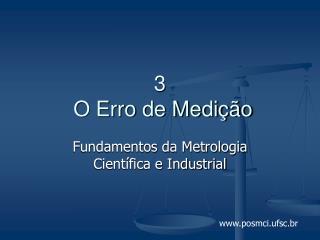 3  O Erro de Medição