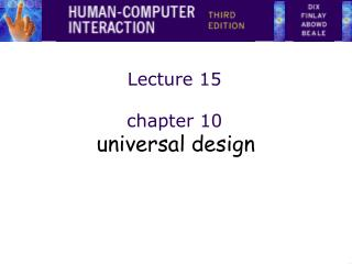 Lecture 15 chapter 10