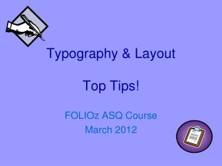 Typography & Layout Top Tips!