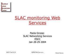 SLAC monitoring Web Services