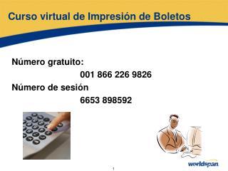 Curso virtual de Impresión de Boletos