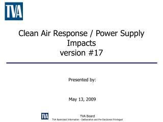 Clean Air Response / Power Supply Impacts version #17
