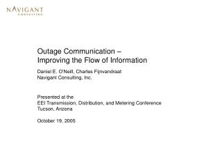Outage Communication – Improving the Flow of Information