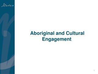 Aboriginal and Cultural Engagement