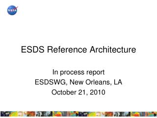 ESDS Reference Architecture